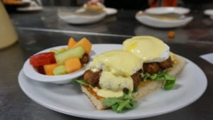 Crab Cake with Egg Benedict